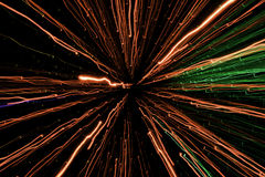 Exposição clara, laser colorido, túnel da luz da infinidade Fotografia de Stock