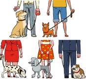 Exposição de cães dos desenhos animados Fotos de Stock