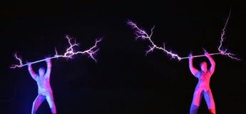 Exposition électrique, la bobine de Tesla électrique images stock