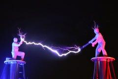 Exposition électrique, la bobine de Tesla électrique photo stock