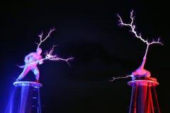 Exposition électrique, la bobine de Tesla électrique photos libres de droits