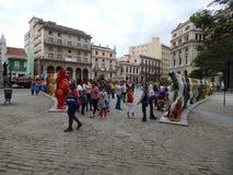 """Exposition """"ours unis """"Havana Cuba d'ami Février 2015 photo stock"""