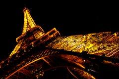 Exposition 2 de lumière de Tour Eiffel Photographie stock