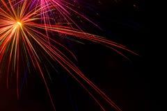 Exposition aérienne de feux d'artifice Image libre de droits