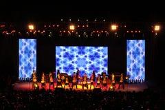 Exposition africaine de tambour dans l'exposition de nouvelle année Photos libres de droits