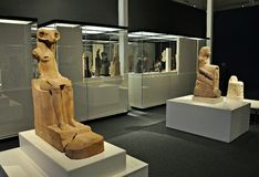 Exposition Animale et pharaons Images stock