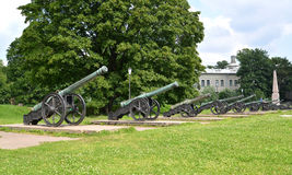 Exposition of artillery arms of the XVIII century. St. Petersbur Royalty Free Stock Photos