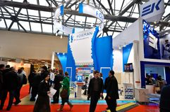 Exposition 2012, avril, 11 2012, Moscou, Russie de MosBuild Image libre de droits