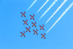 Exposition canadienne de Snowbirds Photos libres de droits