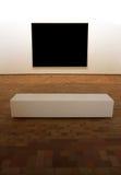 Exposition carrée de panneau blanc Image stock