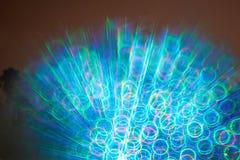 Exposition colorée de laser de concert photo libre de droits