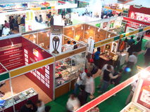 Exposition commerciale commerciale Photos libres de droits