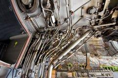 Exposition détaillée d'un réacteur de turbine. Images libres de droits