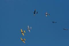 Exposition d'aéronefs Images libres de droits