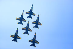 Exposition d'air et de l'eau de Chicago, anges de bleu marine des USA Images stock