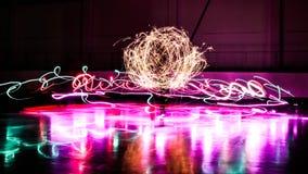 Exposition d'ampoule de cierge magique images libres de droits