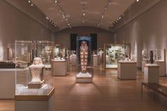 Exposition d'art égyptien antique photo stock