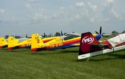 Exposition d'aviation, crue Photos libres de droits