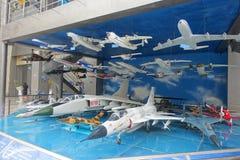 Exposition d'aviation dans le musée de science et technologie de Sichuan images libres de droits