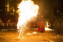 Exposition d'incendie d'Entre Terre et de Ciel Photos libres de droits