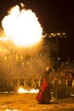Exposition d'incendie d'Entre Terre et de Ciel Photographie stock