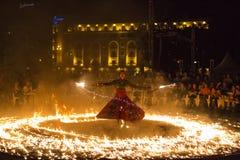 Exposition d'incendie d'Entre Terre et de Ciel Photographie stock libre de droits