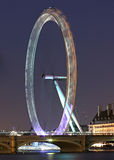 Exposition d'oeil de Londres longue la nuit Photos stock