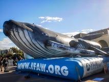 Exposition de ballon de baleine Photo stock