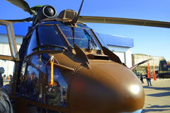 Exposition de charge statique de puma d'Eurocopter AS532 Image libre de droits