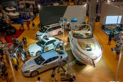 Exposition de Chongqing Leisure Products Expo sur le yacht Image libre de droits