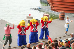 exposition de crique de pirate de legoland Image stock