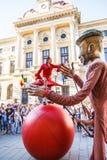 Exposition «de danse de ballon», à l'intérieur de «B-FIT dans la rue 2015» Photos libres de droits
