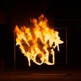 Exposition de danse du feu Images libres de droits