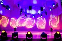 Exposition de disco et de lumière Images stock