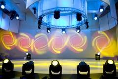Exposition de disco et de lumière Photos stock