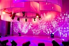 Exposition de disco et de lumière Images libres de droits