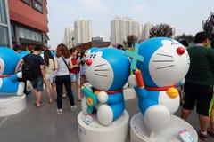 Exposition de Doraemon Images libres de droits