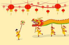 Exposition de Dragon Dancing Image stock