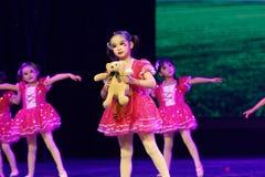 Exposition de enseignement de évaluation Jiangxi d'accomplissement d'enfants d'essai de bonne d'amis de Pékin académie de danse d Photographie stock libre de droits