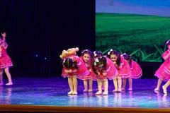 Exposition de enseignement de évaluation Jiangxi d'accomplissement d'enfants d'essai de bonne d'amis de Pékin académie de danse d Image libre de droits