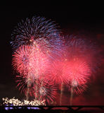 Exposition de feux d'artifice dans Taiwan Photo libre de droits