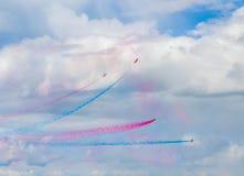 Exposition de flèches de ciel Photos stock