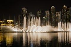 Exposition de fontaine de danse de Dubaï photo libre de droits
