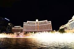 Exposition de fontaine à l'hôtel et au casino de Bellagio Image libre de droits