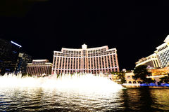 Exposition de fontaine à l'hôtel et au casino de Bellagio Image stock