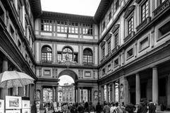 Exposition de galerie d'Uffizi Photographie stock libre de droits