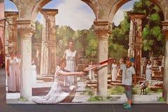 exposition de la photo 3D Photos libres de droits