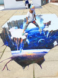 exposition de la photo 3D Image libre de droits