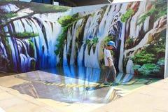 exposition de la photo 3D Photo libre de droits