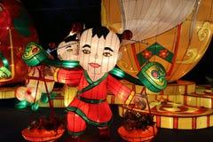 Exposition de lanterne à Chengdu, porcelaine Photo libre de droits